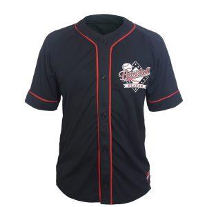 "Baseball Jersey ""Baseball Player"" – Preta friso vermelho"