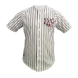 Baseball Jersey LA – Branca Com Listras Pretas