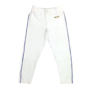 Calça de Beisebol Brasil – Branca Friso Azul Royal – Baseball
