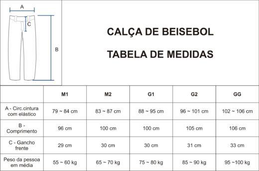 MEDIDAS CALCA M1 a GG